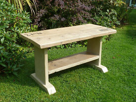 Rustic hand made console table