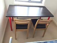 Desk & 2 Dining style Chairs