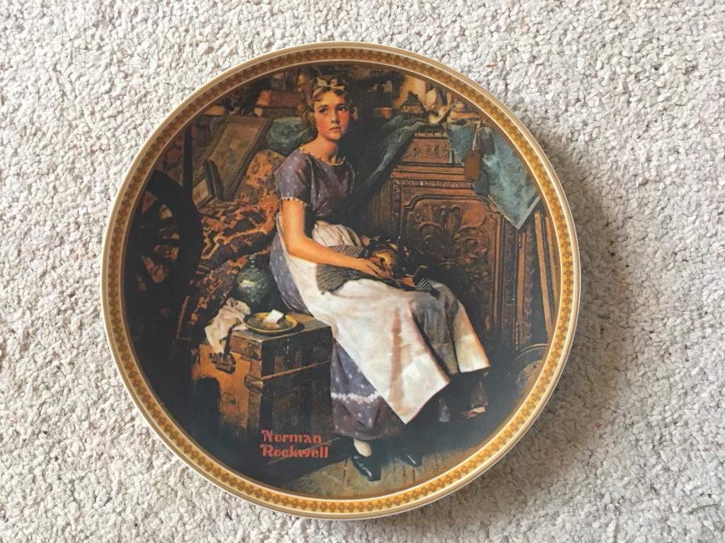 Norman Rockwell's Dreaming in the Attic collectors plate