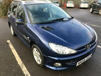 Peugeot 206 SW 1.4 Petrol Estate 5Dr New MOT
