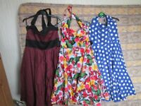 1950's Swing Dresses, Worn once, originally bought from Hell Bunny & Collectif