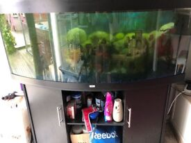Juwel 450 fish tank and cabinet in black