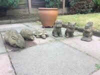 Garden ornaments - 6 animals