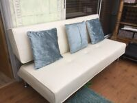 2 x cream sofa bed sofas for sale, hardly used very good condition.
