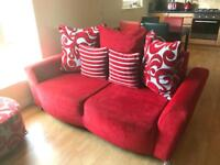 Ex DFS SOFA 2x2 Seaters and a foot stool