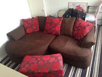 Corner sofa with ottoman