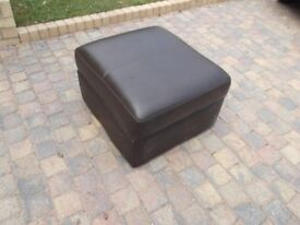 Brown pouffe storage unit Needs covering