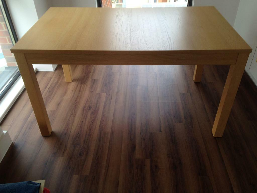 Bjursta extendable table oak veneer 326 best dining rooms images on pin - Table transparente extensible ...