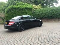 Black Mercedes C Class Auto Blue Efficency With Black AMG Wheels & Black Grill Low miles 76,000 AMG