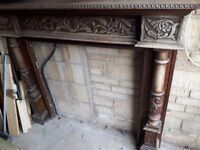 Oak vintage fire surround