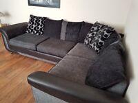 Left corner sofa and matching swivel chair.