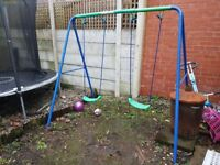 Swing, Slide and Trampoline