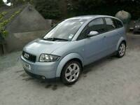 01 Audi A2 1.4 SE 5 door 73000 mls Moted 24/04/17 clean car ( can be viewed inside anytime)