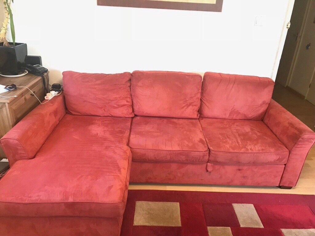 Used Left Hand Facing 3 Seater Storage Corner Chaise Sofa
