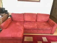 Used Left hand Facing 3 Seater Storage Corner Chaise Sofa Bed