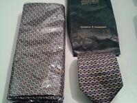 Genuine Italian St George Milano silk tie and scarf set