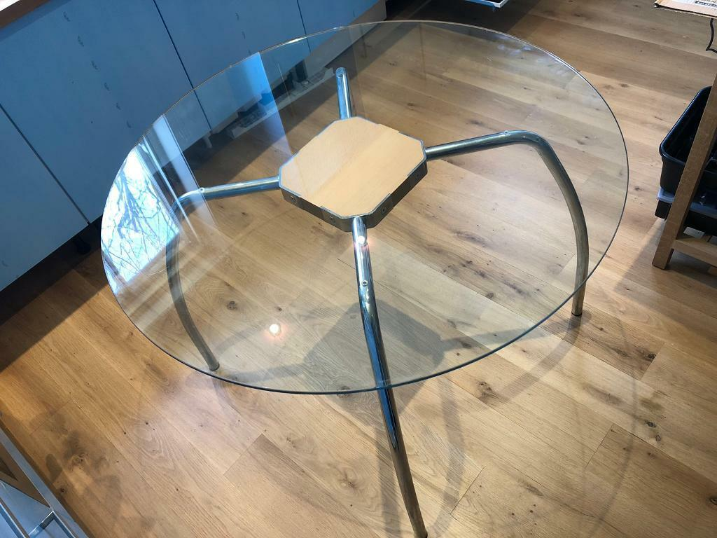 Glass Chrome Kitchen Or Dining Table From Habitat 4 Seat In