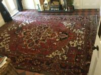 Large Antique Persian Heriz rug