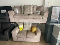 3 SEATER PLUS 2 SEATER EX DISPLAY SOFA SETS. DELIVERY AVAILABLE
