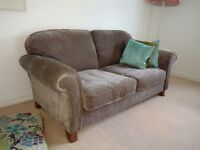 Grey Velvet Two Seater Sofa