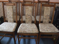 ERCOL DINING CHAIRS (6)