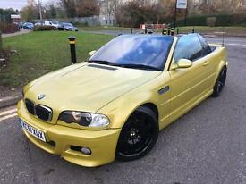 2002 51 BMW M3 E46 CONVERTIBLE- PHONEIX YELLOW- FULLY LOADED