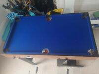 Pool / football / air hockey children's games table