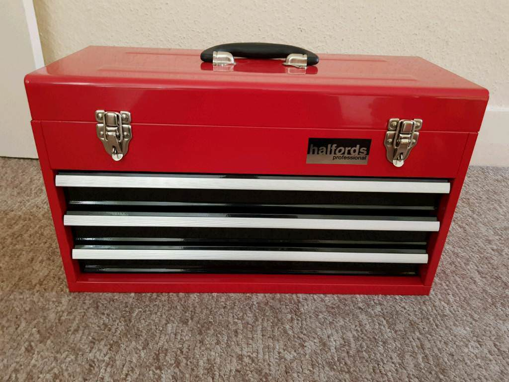 Portable Toolbox Tool Chest Box Cabinet Garage Steel 3 ...