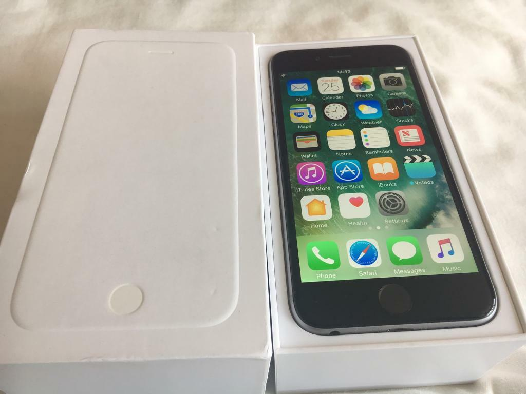 Apple iPhone 6 64gbin Poole, DorsetGumtree - Apple iPhone 6 64gb just one year old Vodafone network brand new condition and full working order No scratches or mark anywhere Comes with original box charger etc...No post local delivery available No offer sorry