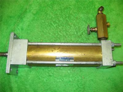 Schrader Bellows Pneumatic Air Cylinder 6 Stroke Square End Valve Usa