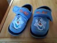 Olaf Toddler Slippers size 9