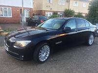 BMW 7 Series 730d SE Luxury Edition 4dr Metallic Black 2012 - (Cream Leather Interior & 43000 Miles)