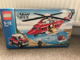Lego City Fire Helicopter snd Rescue Jeep