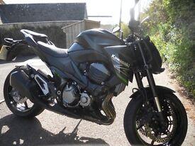 Kawasaki Z800 - 2014, low miles in stunning metallic black