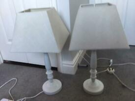 Pair of Lamps with shades and lightbulbs
