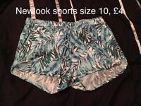Newlook shorts size 10