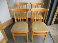 SET OF FOUR VINTAGE SPAR BACK KITCHEN DINING CHAIRS FREE DELIVERY