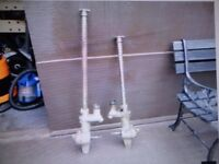 two seagull outboard gear boxes 4 hp and 5 hp complete with the shafts in them