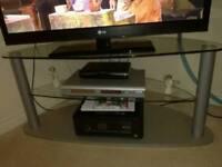 Large glass corner TV stand