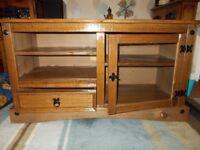(Oak) Sollid Wood TV Unit.