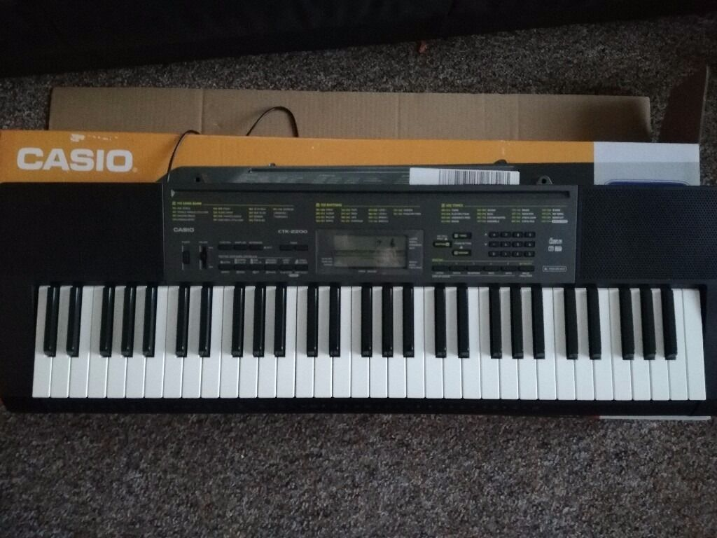 Casio CTK-2200 with Tiger stand
