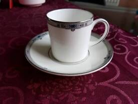 Wedgwood 'Amherst' Set of 6 Coffee Cups & Saucers