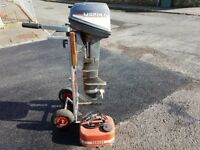 Mariner/Yamaha 6hp 2 stroke long shaft boat outboard motor