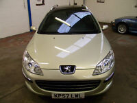 2007 (57) Peugeot 407 SW 2.0 HDI 136 Diesel FSH + Huge Spec Inc Cruise, Climate & Pan Glass Roof