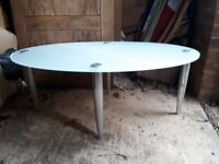 Oval metal shape table