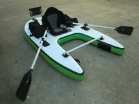 NEW One person kick,stand up,float,motor or use oars BOAT