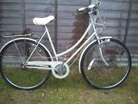 retro raleigh caprice step though ladies bike