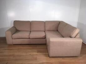 Next Beige corner sofa with free delivery within 10 miles