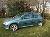 PEUGEOT 206 1.4 MOT JUNE 2018 ALLOY WHEELS AIR CON CD PLAYER- A CHEAP CAR TO TAX AND INSURE
