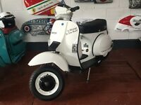 "Vespa t5 ""fully restored "" choice of 30 scooters"